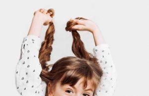 school girl hair