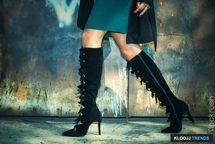 over the knee military boots